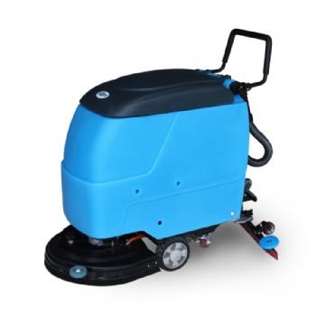 山西火车站用鼎洁盛世全自动手推式洗地机DJ520 电动擦地机 吸擦一体机,刷地机