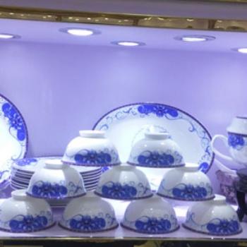 供应景德镇陶瓷餐具 56头青花餐具 鑫腾陶瓷价格