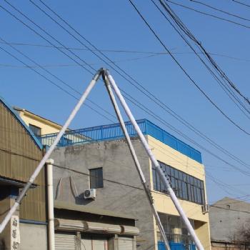 手摇立杆机8~15米三角架立杆 铝合金三角架 人字抱杆 电线杆起杆机