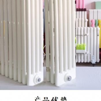 钢六柱GZ606 XDGZ606钢管柱形散热器 钢制柱型散热器 长春旭东暖气片厂家 钢制暖气片
