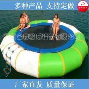 水上乐园充气蹦床充气蹦圈水上漂浮物充气水上漂浮玩具充气蹦蹦圈