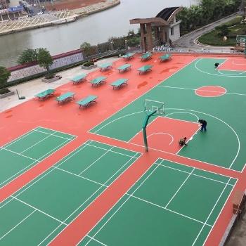 衡阳3毫米8毫米硅PU球场施工材料安全无毒环保国标