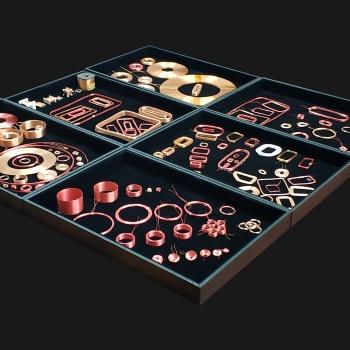 北京空心电感线圈自粘漆包铜线圈读卡器电磁感应多层整列线圈工厂定制