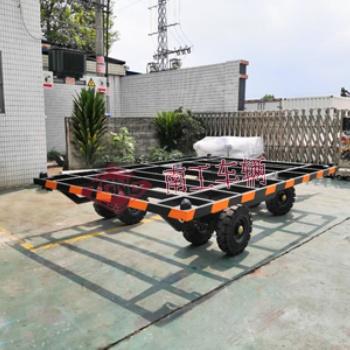 8吨骨架式平板拖车 无动全挂车