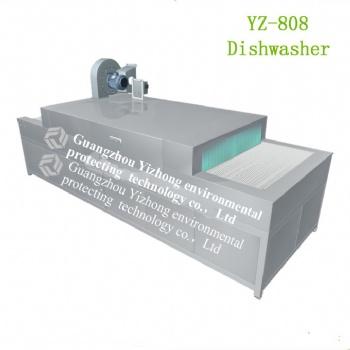 YZ-808大型商用全自动洗碗机网带平放式洗碗机厂家
