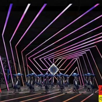 单车房灯光方案 声控单车房幻彩灯光系统 智能幻彩灯光厂家