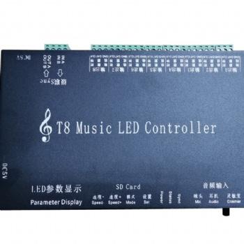 时光隧道音乐喷泉声光联动幻彩T8声控音频音乐LED控制器
