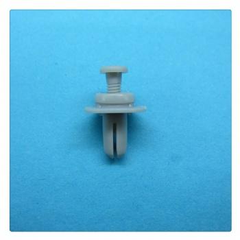 黑色花状穿芯钉卡扣 推进式闭口塑料铆钉卡扣 直径6mm