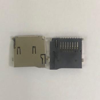优质TF卡座 micro SD卡座 记忆卡座 TF卡套 带自弹外焊式