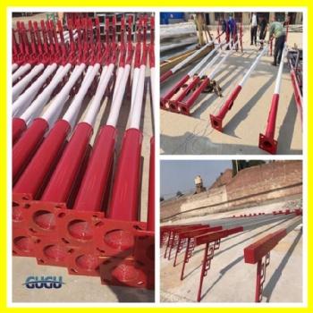 厂家定制5米6米路灯杆 热镀锌喷塑 海螺臂A字臂各种规格路灯杆