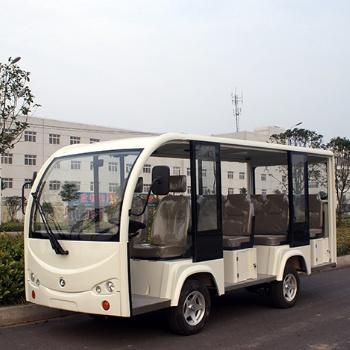 广东电动游览车观光车11座 敞开款