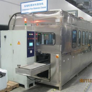 苏州定做压缩机配件环保型水溶剂除油污全自动机械臂超声波清洗机