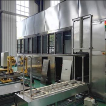 苏州定做不锈钢气箱环保型水溶剂除油污全自动机械臂超声波清洗机