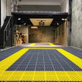 塑料拼接格栅地板汽车美容店车间库房排水网格板