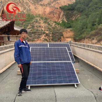 甘肃兰州寺庙1500w 5000w太阳能光伏发电系统 设备