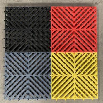 卉馨加厚洗车房拼接塑料格栅免挖沟槽地格栅4s店展台地板防潮板