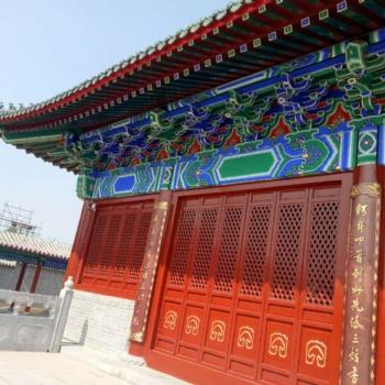 手绘古建筑彩绘寺庙祠堂牌坊长廊彩绘亭台楼阁彩绘