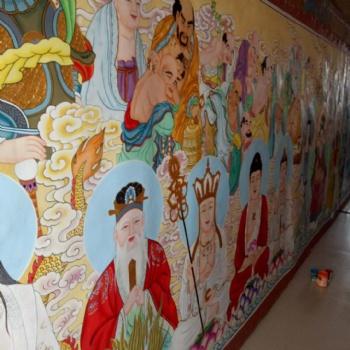 佛像画道教神像画寺庙背景墙壁画家族供奉神像画