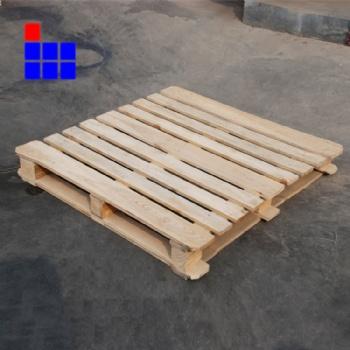 青岛豪盟加工橡胶实木卡板 黄岛加工出口熏蒸木托盘带证书标识