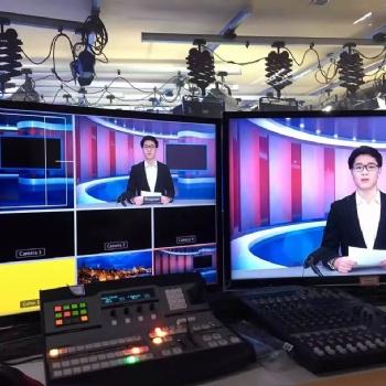 天创华视 高校校园电视台 单位虚拟直播间演播室搭建