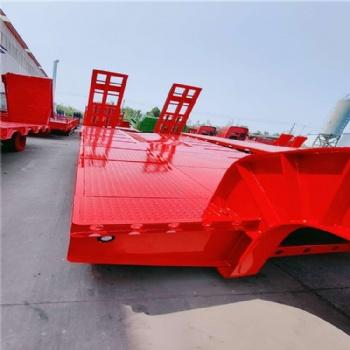 厂家订做半挂车 9米后翻挂车 罐式后翻半挂车 勾机板半挂车