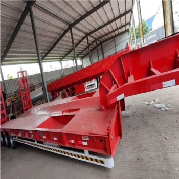 订做轻型13米低平板半挂车 三线六轴重型低平板半挂车