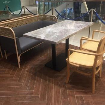 越南菜餐厅餐桌 大理石餐桌图片 宜尚家具定制
