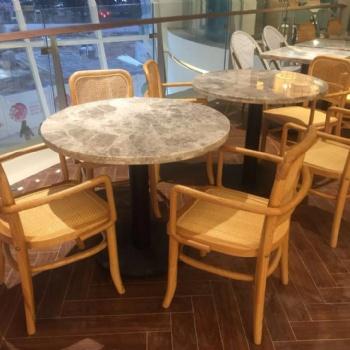 中餐厅家具 浙菜餐厅实木椅子 藤编椅子厂家**