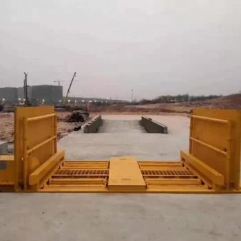 工地基坑式洗轮机 滚轴洗车机厂家 正鑫承重100T洗车机