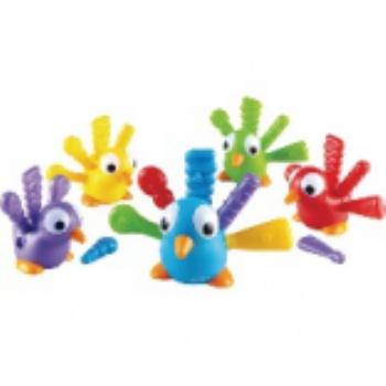 托育教具-配对排序小孔雀