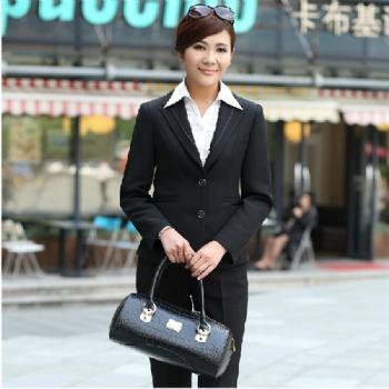 时尚商务女士职业装女款正装西服同款三件套韩版小西装