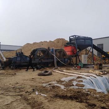 志成机械滚筒筛沙洗砂机一套时产150吨的制砂洗沙设备