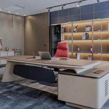 武汉高档现代总裁办公桌哪家比较好 汇俱优品办公家具专业可靠