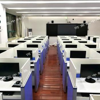 英语听说标准化考场 升降屏风电脑桌 外语听说考试桌
