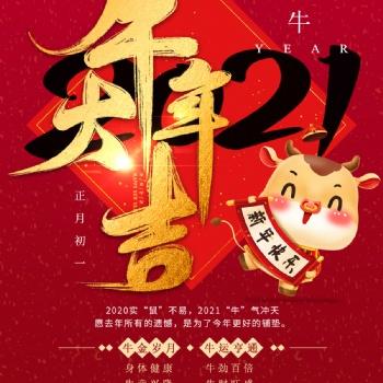 雅马哈乐器专卖(广州)旗舰店提前祝您2021年春节快 乐牛气冲天