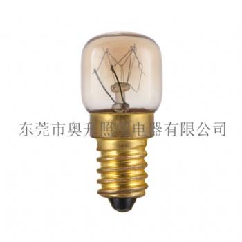 工厂热销 T22烤箱灯泡、T7烤箱灯泡、E14S 15W 耐高温300度灯泡