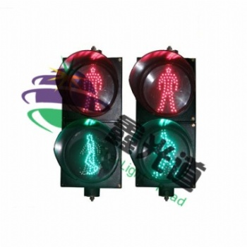 300动态绿人静态红人人行信号灯