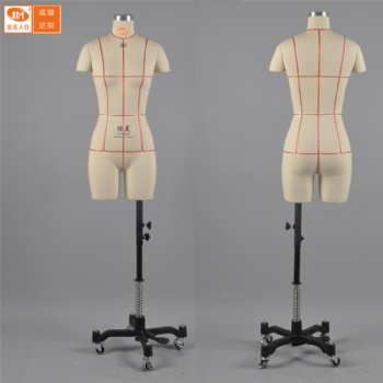 俊美人台 国内模特道具女半身 版房试衣打版立体裁剪标准可插针