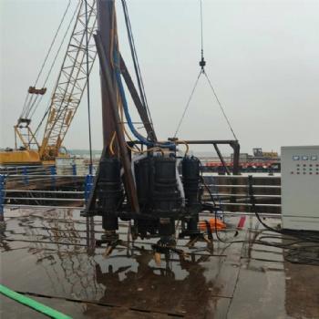 桥梁钢板桩基工程潜水泥沙泵